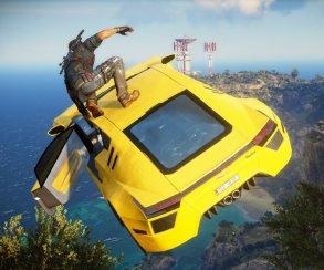 Оперативник оседлал летящую машину на кадрах Just Cause 3