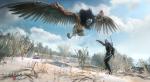 Геральт отбивается от грифона на кадрах из The Witcher 3 - Изображение 3