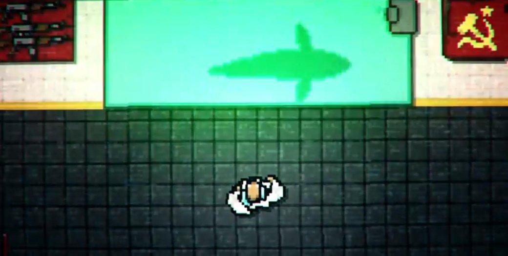 Герой Hotline Miami 2 орудует бензопилой в трейлере игры. - Изображение 1