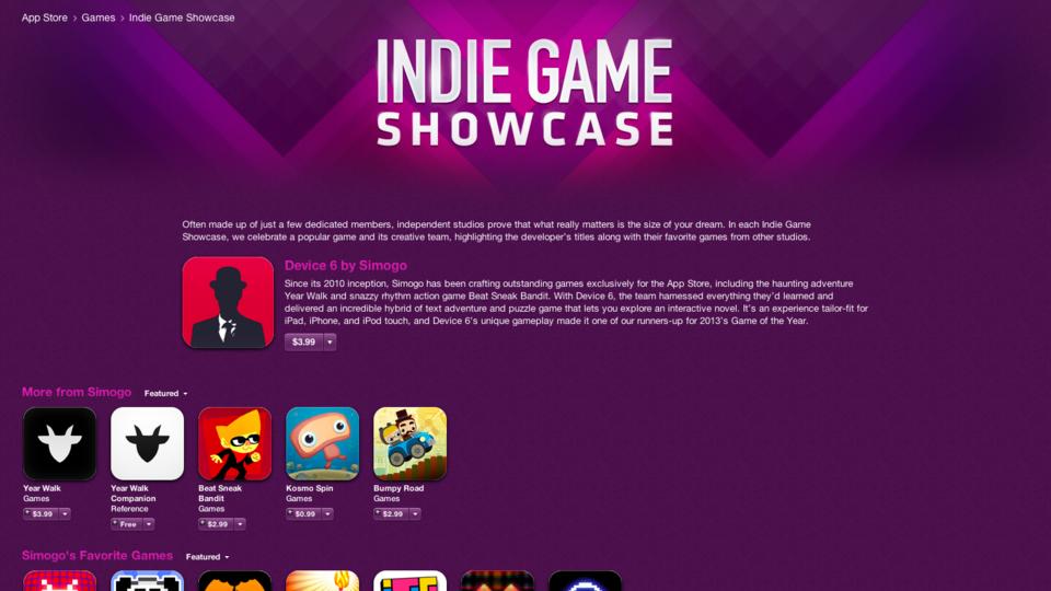 В App Store открылся раздел с играми независимых разработчиков  - Изображение 1