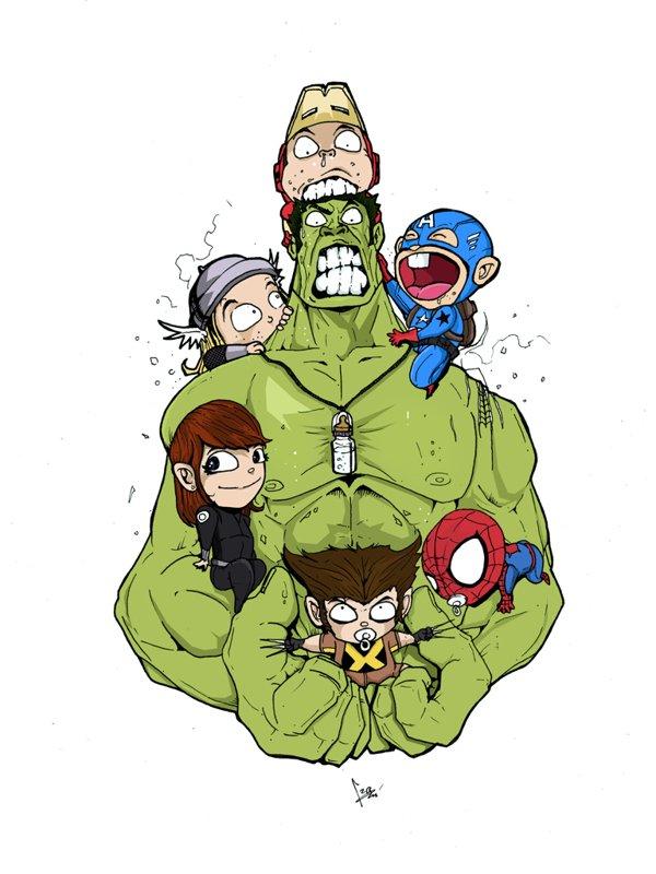 Галерея вариаций: Мстители-женщины, Мстители-дети... - Изображение 87