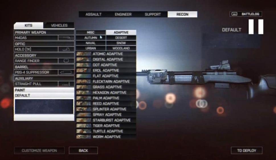 Камуфляж оружия в Battlefield 4 - Изображение 2