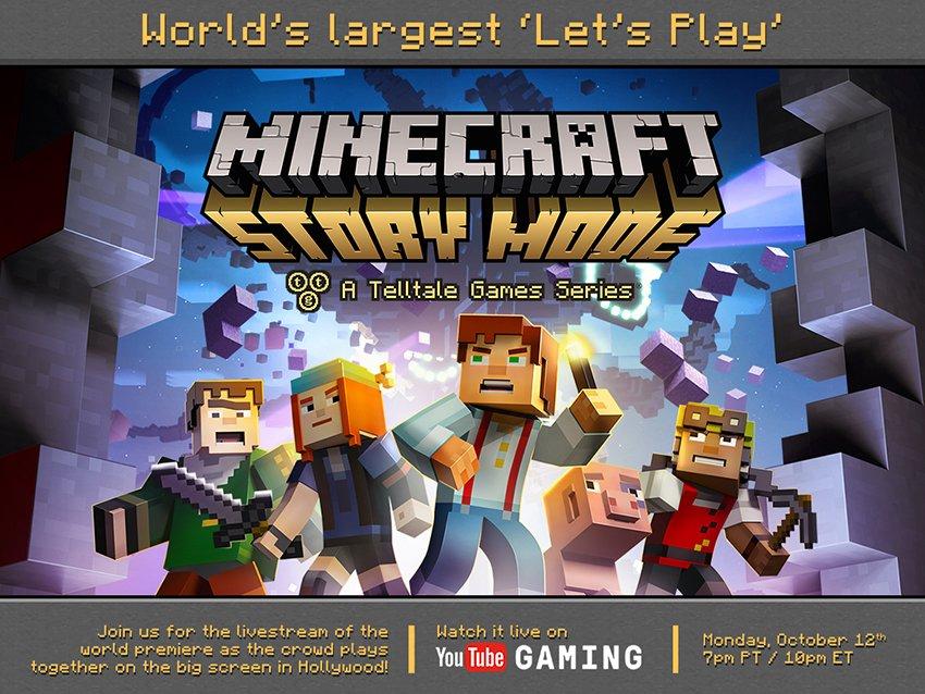 Telltale отметит выход Minecraft: Story Mode грандиозным летс-плеем - Изображение 1