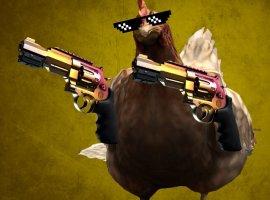 Посмотрите, как курица портит раунд в профессиональном матче CS:GO