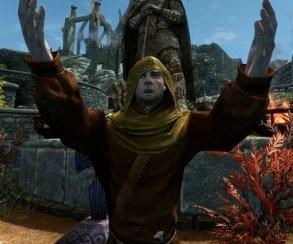 Косплеер Skyrim вшутку присоединился кхристианскому протесту