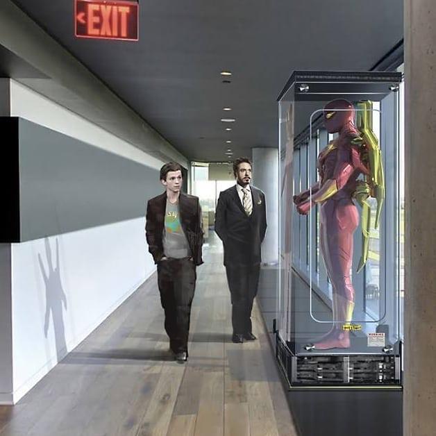 На концепте «Возвращения домой» у Питера Паркера был классический костюм Железного Человека-паука. - Изображение 2