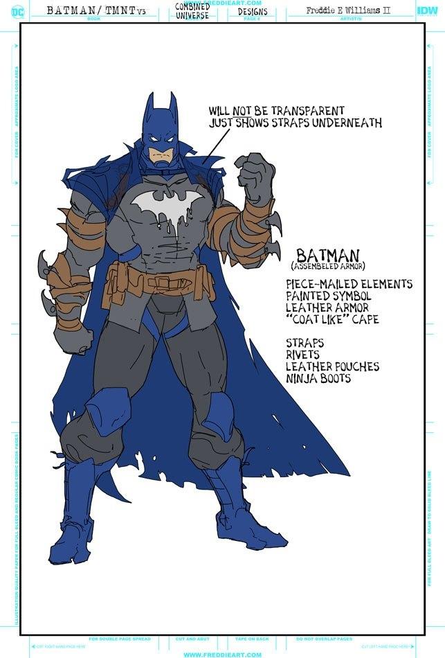 Втретьем кроссовере Черепашек-ниндзя иБэтмена появятся гибриды героев. Например, Найтвинг-Леонардо   Канобу - Изображение 7258