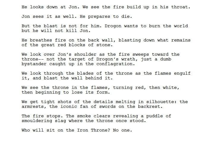 Сценарий «Игры престолов» раскрыл, зачем Дрогон насамом деле сжег Железный трон | Канобу - Изображение 2