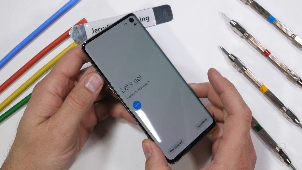 Флагман Samsung Galaxy S10 легко справился стестом напрочность | SE7EN.ws - Изображение 1
