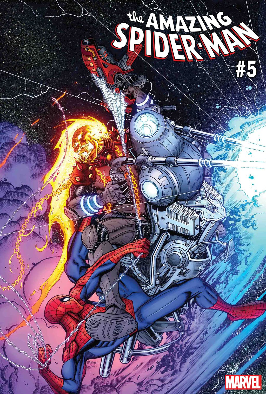 Космический Призрачный гонщик против вселенной Marvel. Правда, пока только навариативных обложках | Канобу - Изображение 6831