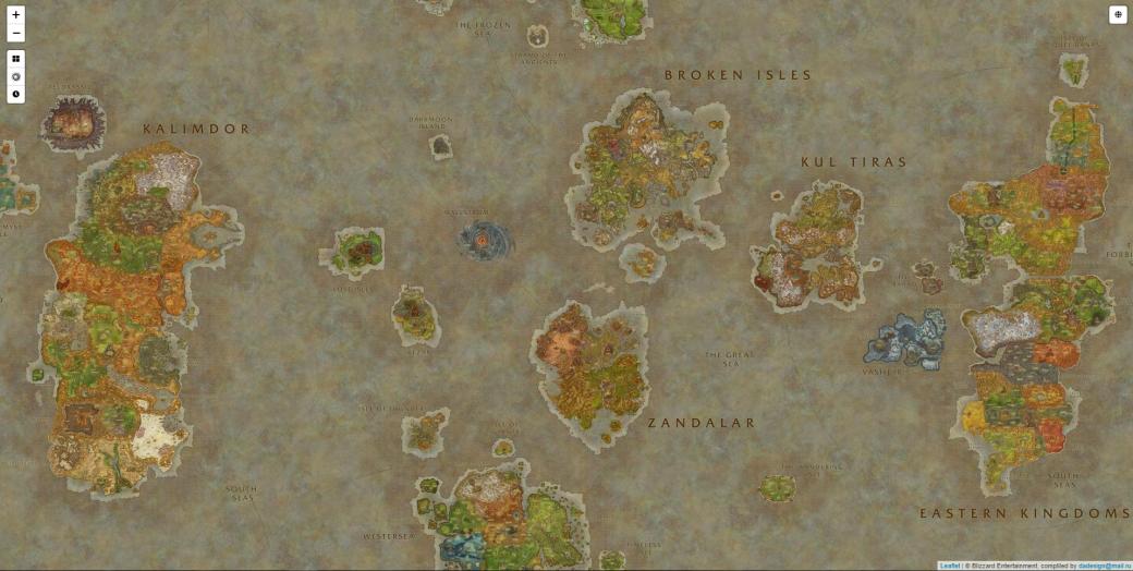 Энтузиаст создал интерактивную карту мира World of Warcraft в стиле Google Maps   Канобу - Изображение 3