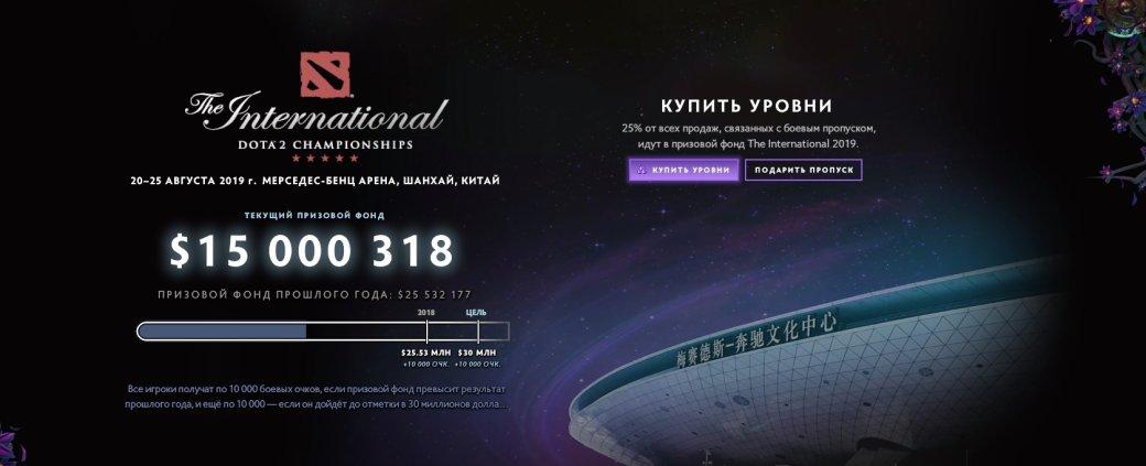 ДоThe International 2019 поDota 2 еще почти 3 месяца, аего призовой фонд уже $15млн! | Канобу - Изображение 0