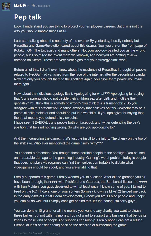 Скандал вокруг «гомофобной» игры Ion Fury: хронология | Канобу - Изображение 3