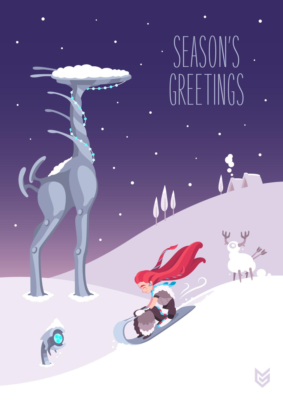 Разработчики поздравляют игроков с Рождеством. Подборка праздничных открыток   Канобу - Изображение 12490